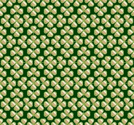 cloverleaf: Vector abstract seamless green  trefoil pattern