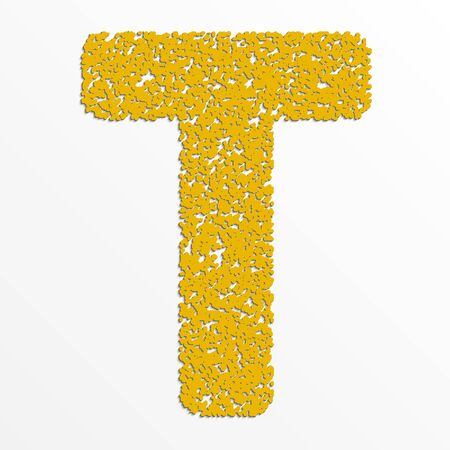 Vecteur plusieurs alphabet de couleur avec la texture du grain, la lettre T Banque d'images - 38913943
