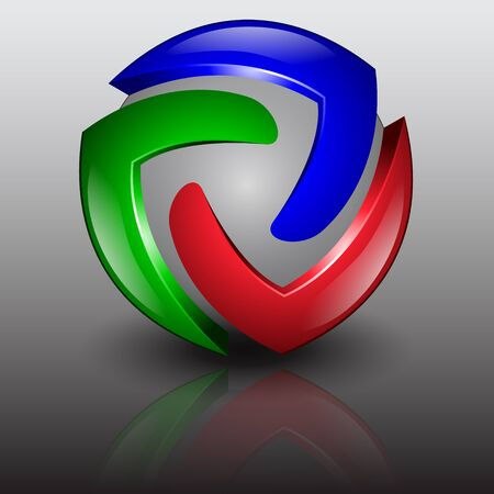 abstract 3d red green blue illustration