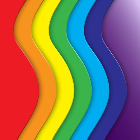abstract background with vertical rainbow curve lines Illustration