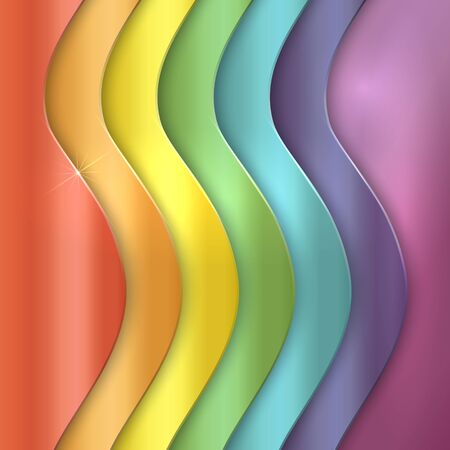 abstract background with metallic vertical rainbow curve lines