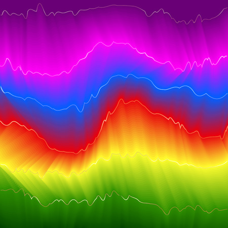 Abstract glowing background. Rainbow energy Vector illustration.