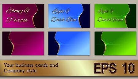 Business cards and company style Stok Fotoğraf - 94975068