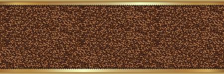 Coffee beans background Stock Illustratie