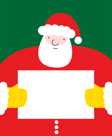 Santa Claus holding a message board Stock Vector - 18477975