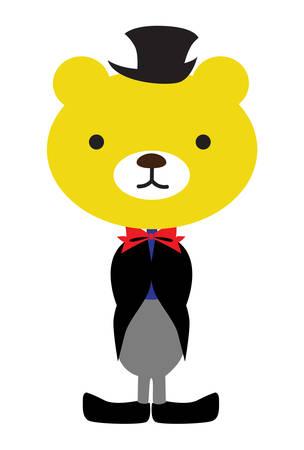 Bear wearing a tux
