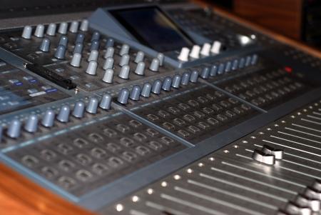 recording studio: Mixer In A Recording Studio