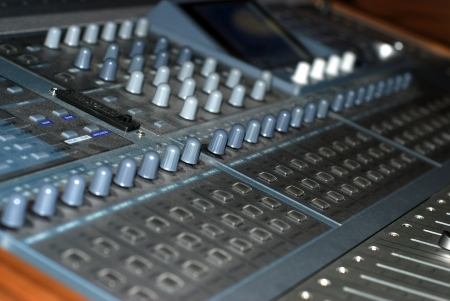 Mixer In A Recording Studio  photo