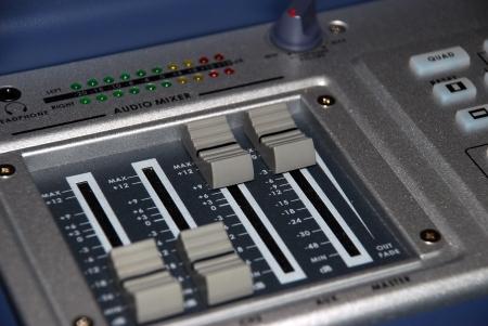 Mixer In A Recording Studio  photo