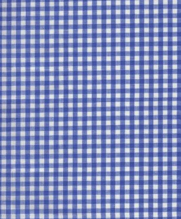Blue Plaid Fabric Stock Photo - 19433560