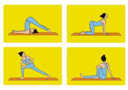 Woman is doing yoga