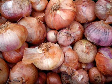 Onions background Stock Photo