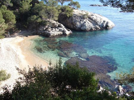 Small beach mediteranean crystal clear sea