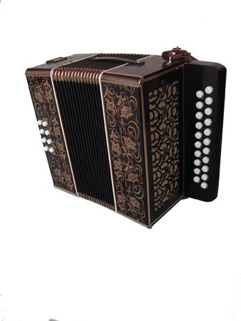 concertina: accordian isolated on a white background