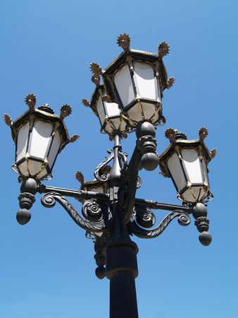 decorative Old fashioned Street lamp Vic Stock Photo - 918080