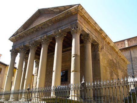 Romanesque Temple Vic Stock Photo