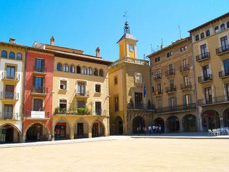 Town square building Vic , Catalunya Spain