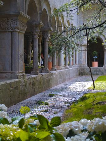 Cloisters Girona cathedral, Catalonia Spain