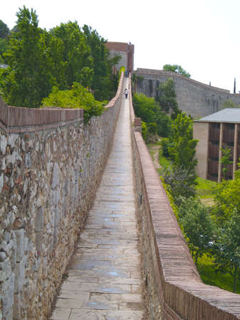 Girona, Spain -  view  the city walls