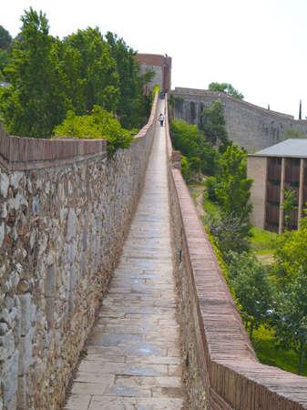 Girona, Spain -  view  the city walls