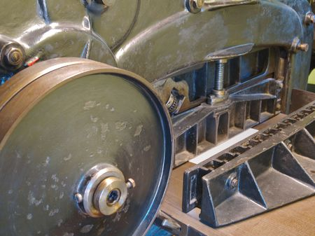 Old printing press with cogs, bars, wheels and levers Stock Photo - 939914