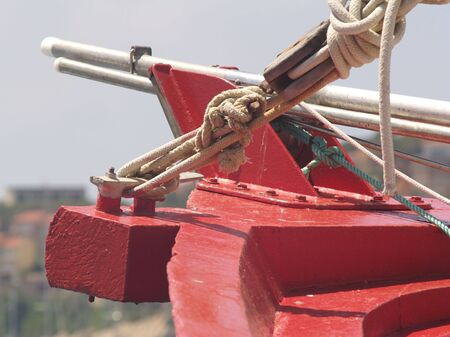 Bow of fishing boat