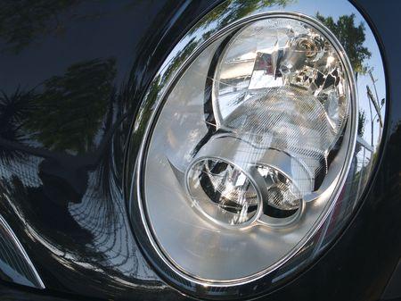 plastic, glass, metal and reflections auto headlight Stock Photo - 1092749