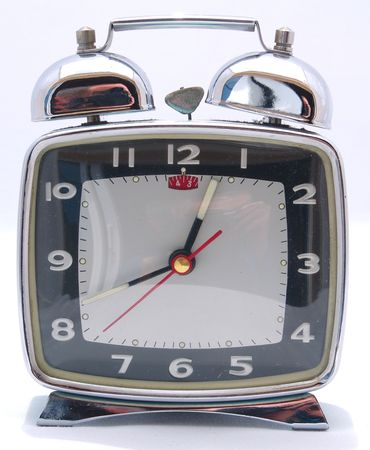 Wind up Mechanical Alarm Clock with bells on top