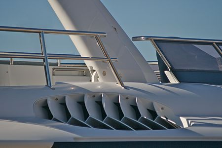 part of a large pleasure boat - yacht