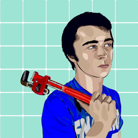 wright: Plumber lad