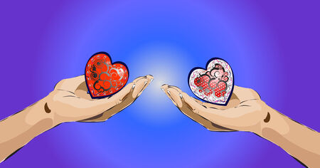 Valentines message - I give you my heart Illustration