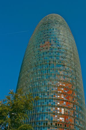 Bullet shaped modern architecture in Barcelona