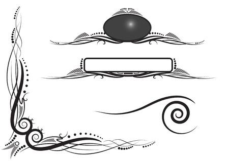 scroll and dots twiddle flourish