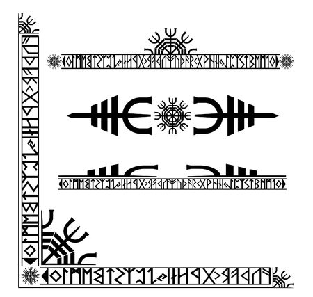 Viking runic corner design