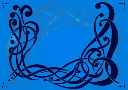 Twiddle Pattern based on interweaving scrolls