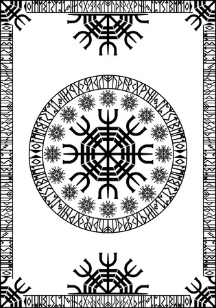 Viking runic design panel