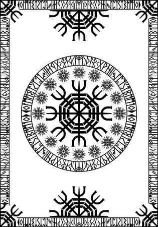 Viking runic design panel