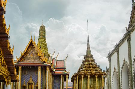 the emerald city: Wat Phra Kaew Stock Photo