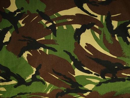 camouflage: Una secci�n de tela de camuflaje.