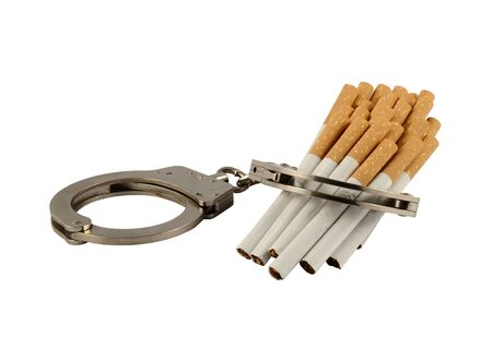 Nicotine addiction - chained to tobacco