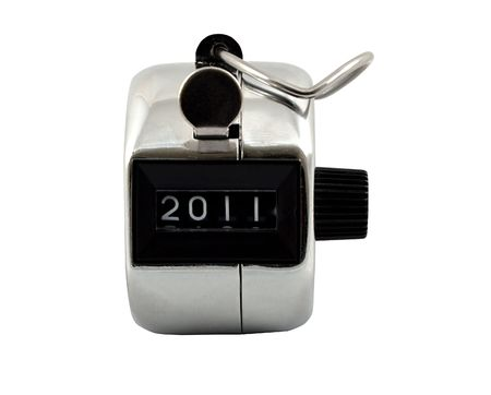 clicker: A Mechanical number clicker showing 2011 New Year
