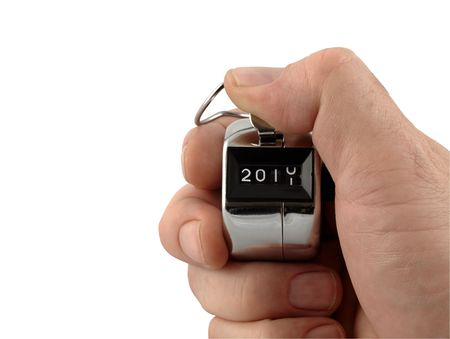 A Mechanical number clicker moving to 2011 New  Year