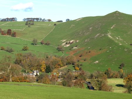 manifold: Ilam one of the most visited spots in the Manifold Valley, Peak District National Park.