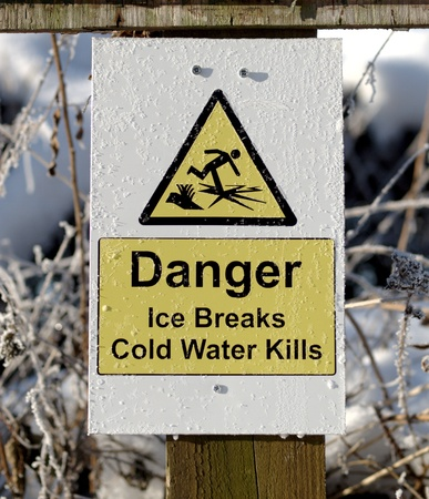 skating on thin ice: A warning of the dangers of skating on thin ice