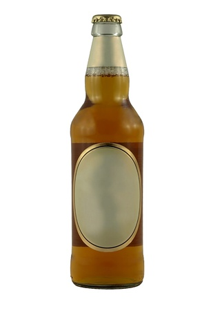 Beer bottle with blank label photo