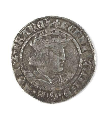 Gehammerte silberne Groat von Henry VIII 1526-1544