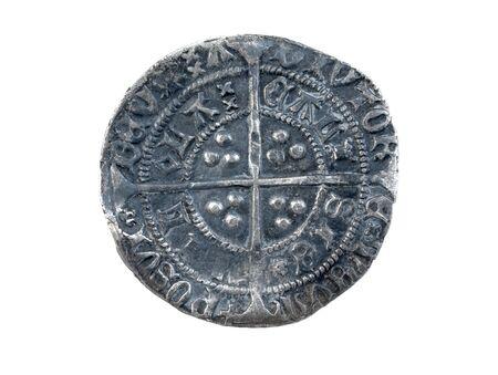 Gehammerte silberne Groat Heinrichs VI geprägt bei Calais 1430-1431 Durchmesser 27 mm