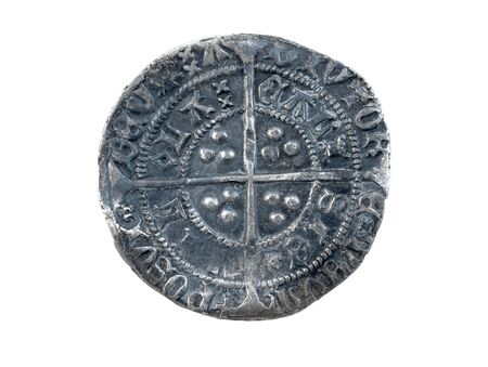 Hammered silver groat of Henry VI minted at Calais 1430-1431 diameter 27mm Stock Photo - 9161800