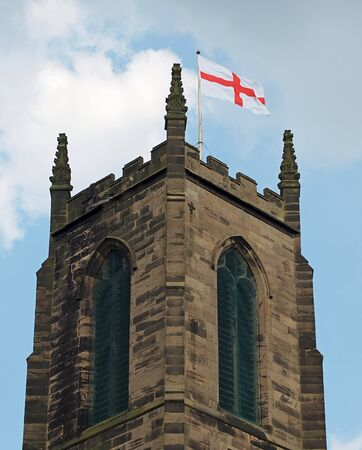 Church of England church flying cross of St George flag