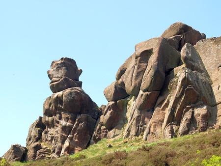 Ramshw Felsen, die Kakerlaken in der Peak-District-Nationalpark Staffordshire
